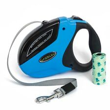 Retractable Dog Leash for Medium or Large Dog up to 110 lbs - 16 Ft Nylon Ribbon