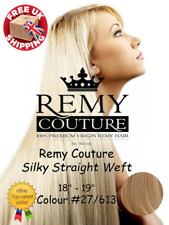 """Remy Coutur 18""""-19"""" Colour #27/613  Silky Straight Weft Hair Extensions"""