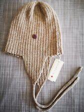 🐞boys girls ribbed hat beanie alpaca wool, mocha brown, 5-6 yrs, £34