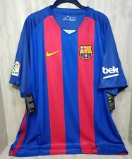 NIKE FC BARCELONA HOME SOCCER JERSEY  NIKEDRY 2016 Sz 2XL 90$ Tags Red/blue