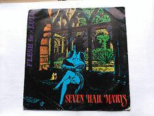 SINGLE FLESH FOR LULU - SEVEN HAIL MARYS - STATIK SPAIN 1985 VG/VG+