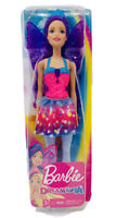 NEW Barbie Dreamtopia Fairy Doll with Purple Hair & Removable Wings 2019 Mattel
