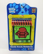 1998 Blues Clues Handy Dandy Notebook Steve Thinking Chair Crayon Authentic NIP