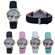 Hand In Hand Love Watches Women Leather Analog Watch Quartz Wristwatches Casual