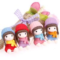 4x Mädchen mit Hut Miniaturfiguren Puppenhaus Gartendekor Mikro Landschaft