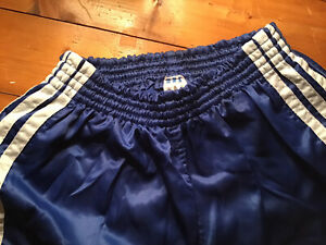 Adidas Vintage Shorts Nylon Glanznylon Racer D6 / M - L Sporthose Shiny Sprinter