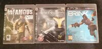 3 SONY PS3 GAMES INFAMOUS BRINK & TIME SHIFT ALL NICE WITH MANUALS PLAYSTATION 3