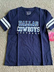 New Dallas Cowboys Her Style Girl's Medium M (8-10) Longley Shirt NWT