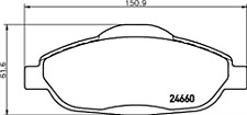 Pagid T1766 Brake Pad Set FRONT for Peugeot 308 3008 5008 1613259380 425393