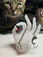 Stainless Steel Hand Cuffs Key Ring - Cat Not Included