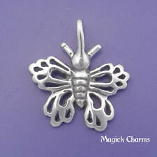 BUTTERFLY Charm .925 Sterling Silver Garden Insect Pendant - lp1395