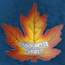 Kanada - Maple Leaf - Cut out Farbe - 20 $ 2016 PP Colour Silber