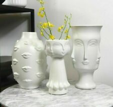 Ceramic Flowers Decorative Vase Tabletop European Style Living Room Home Office