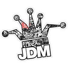 JDM CLOWN CROWN BOMB B&W JDM Sticker Decal Drift Jap Car  #0679EN