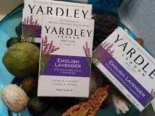 YARDLEY~ENGLISH LAVENDER~ONE (3) BAR SOAP~Hand Body Bath~Calm~Moisturize~UNISEX