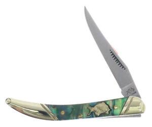 "Bulldog Abalone Little (Texas) Toothpick 3"" Pocket Knife Hand Made BDG-109AB"