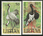 Birds Cranes Lithuania Mint Never Hinged Stamps Issued in 1991