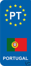 lot 2 Stickers style immatriculation (Vinyl FLAG) Europe PORTUGAL