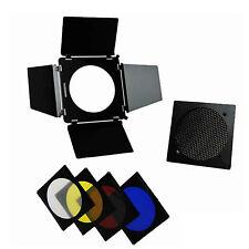 Kit 4 Aletas Visera Barn Door DynaSun A110 Laminas con Honeycomb Grid +4 Gel Set