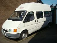ford transit smiley 1999 34000 miles only petrol mini bus with tail lift