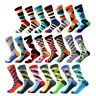 NEW Mens Cotton Socks Novelty Colourful Argyle Diamond Stripe Funny Casual Socks