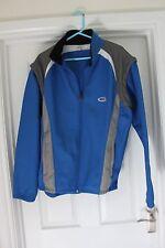 Mens Blue & Grey Sports Jacket Removable Sleeves Gilet Cycling Coat Walking