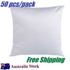 AU Stock- 50 PCS White Sublimation Blank Pillow Case Heat Transfer Cushion Cover