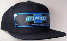 Hat Cap Front Nylon Strap Chevrolet Chevy Bowtie Black CHAI
