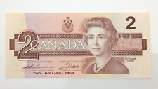 1986 Canada Two 2 Dollar Prefix BGU Uncirculated Canadian Banknote F358