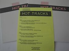 Hot Tracks 1990 Series 9 Issue 6 Clear Vinyl Dual 45 RPM Stereo DJ Radio Station