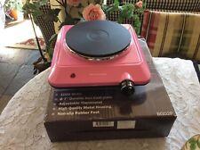 "Rare HOT PINK Ovente Electric Single Countertop 7"" Burner-1000 Watts-NIB"