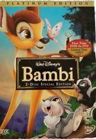 Walt Disney's Bambi DVD 2 Disc Special Edition Platinum  NEW