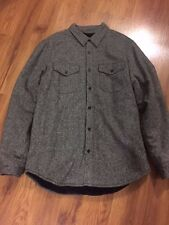 BRAND NEW SUPREME PILE LINED SHIRT BLACK! GRAY SIZE LARGE. DONEGAL WOOL F/W 2012