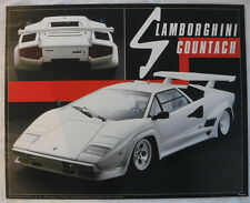 Rare Vintage 1985 Lamborghini Countach   Glass Framed Poster From  Netherlands