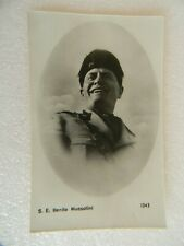 VINTAGE WWII S. E. BENITO MUSSOLINI POSTCARD - FASCIST LEADER OF ITALY 1922-43
