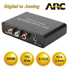 HDMI ARC Audio Extractor DAC SPDIF Coaxial RCA 3.5mm Output Digital to Analog