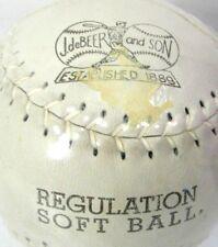 "Vintage No 912 J deBeer Regulation Softball 12"" Leather Genuine Kapok Center New"