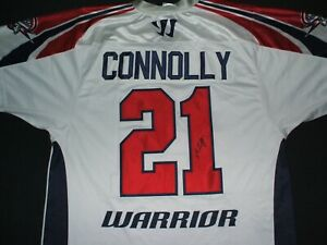 Signed Autograph Boston Cannons Connolly 21 Jersey Size L MLL Lacrosse Warrior