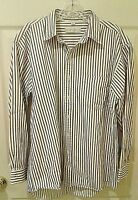 EUC Geoffrey Beene 100% Cotton Shirt Medium White w/ Multicolor Stripes FS!