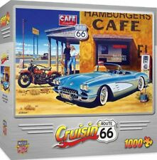 MasterPieces Cruisin' Route 66 Jigsaw Puzzle, Rogers Cafe, 1000 Pieces