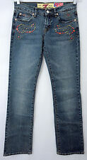 """7 For All Mankind 27"""" W Womens Blue Denim Jeans Studded Seven China Wall Sale"""