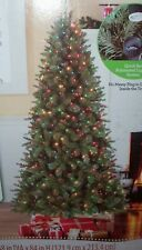 New Holiday Time Pre-Lit 7' Duncan Christmas Tree W/ Multi-Colored Lights T-27