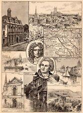 TROYES ARCIS BAR SUR AUBE NIGENT SEINE PONT AUX CAILLES FRAIPONT IMAGE 1901