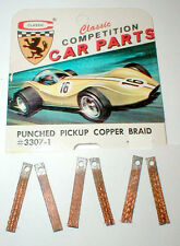 3 Pair Punched Pickup Copper Braid Brushes CLASSIC Mfg #3307-1 Vintage1960's NOS