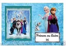 Plaque de porte en bois Reine des neiges  N° 27  avec prénom ou texte