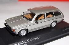 Opel Kadett C Caravan 1978 silber 1:43 Minichamps neu & OVP