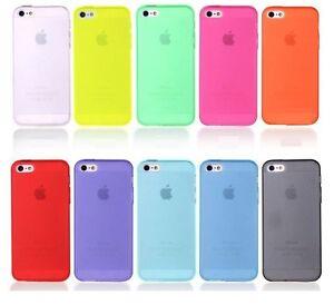 Apple iPhone 5S SE 2016 Ultra Thin Transparent Soft Flexible TPU Case Cover