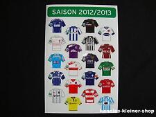 3.Liga Magnet-Trikot-Pins 12/13 Bundesliga Pin DFL 2012/2013