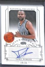2013-14 Panini National Treasures Signatures Auto #SI-TP Tony Parker No 18 of 35