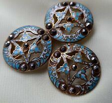 enamel champleve brooch Antique Georgian cut steel